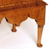 Queen Anne Tiger Maple Small Desk on Frame