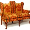 Queen Anne Style Walnut Settee
