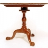 Chippendale Walnut Piecrust Tea Table