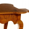 Queen Ann Tiger Maple Porringer Top  Tea Table