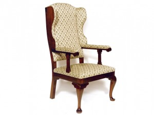 Queen Anne Walnut Moravian Arm Chair