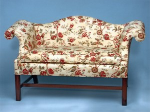 Chippendale Mahogany Settee-633
