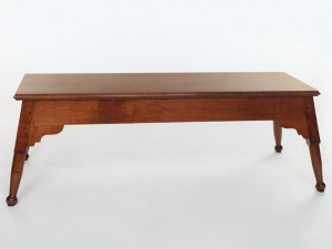 Queen Anne Cherry Splayed Leg Bench
