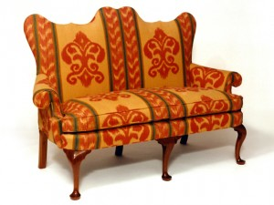 Queen Anne Walnut Settee-1-633