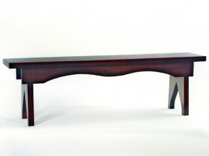 Mahogany Country Bench