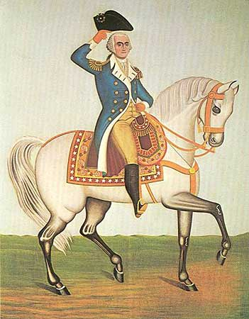 George Washington on a White Charger