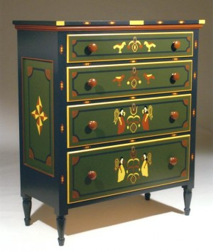 PAINT-DECORATED CHEST-633