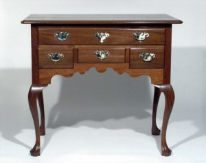 Queen Anne Walnut Dressing Table-633