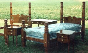 Federal Style Tiger Maple Bedroom Suite