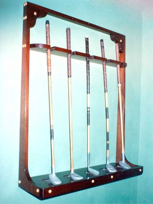 Mahogany Golf Club Rack