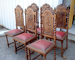 Carved Chairs Photo