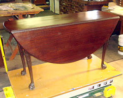 Chippendale Carved Mahogany Drop Leaf Photo