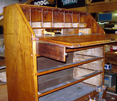 Early Tiger Maple Chippendale Desk Photo