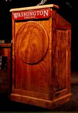 Podium for Washington College