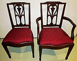 This Was A Completed Restoration And Reupholstery Of The Six Potthast Of  Baltimore Side Chairs. The Potthast Brothers Of Baltimore Built Hand  Crafted ...